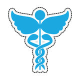 Asclepius rod icon image. Vector illustration design Royalty Free Stock Photo