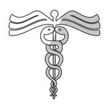 Asclepius rod icon image. Vector illustration design Royalty Free Stock Photography