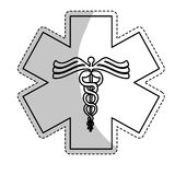 Asclepius rod icon image. Vector illustration design Royalty Free Stock Images