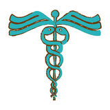 Asclepius rod icon image. Vector illustration design Stock Images