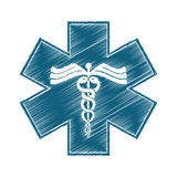 Asclepius rod icon image. Vector illustration design Royalty Free Stock Photos