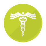 Asclepius rod icon image. Vector illustration design Stock Photo