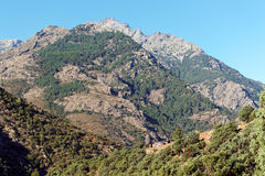 Asco mountains in Corsica montains Royalty Free Stock Photography