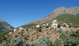 Asco village in Corsica montains Stock Photo