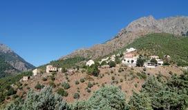 Asco wioska w Corsica montains zdjęcie stock