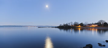Ascog at Night. Ascog on the Isle of bute (Scotland) at night royalty free stock images