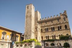 Ascoli Piceno - стародедовское здание Стоковая Фотография RF