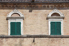 Ascoli Piceno - Ancient building in the main square Stock Photos