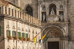 Ascoli Piceno - Ancient buildings Royalty Free Stock Photo
