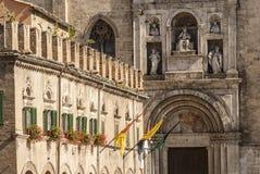 Ascoli Piceno - Ancient buildings Royalty Free Stock Photo