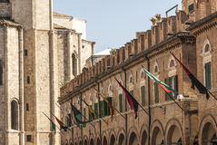 Ascoli Piceno - Ancient buildings Stock Images