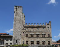 Ascoli Piceno ( Italy) - Historic palace with towers Stock Images