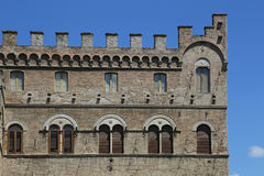 Ascoli Piceno (Italy) - Historic palace with towers Royalty Free Stock Images