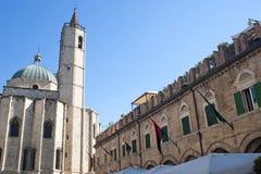Ascoli Piceno (Italy): Piazza del Popolo Stock Photos