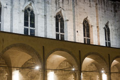 Ascoli Piceno (Marches, Italy): Cloister by night Royalty Free Stock Image