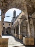 Ascoli Piceno Marches, Italy, cloister of San Francesco Royalty Free Stock Photos
