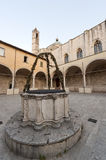 Ascoli Piceno (Marches, Italy):Cloister with well Royalty Free Stock Images