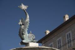 Ascoli Piceno Marches, Italy, fountain in Arringo square Royalty Free Stock Photos