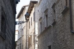 Ascoli Piceno Marches, Italy, historic buildings Royalty Free Stock Images