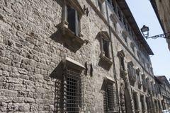 Ascoli Piceno Marches, Italy, historic buildings Stock Photo
