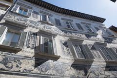 Ascoli Piceno Marches, Italy, historic buildings Royalty Free Stock Photography