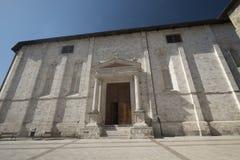 Ascoli Piceno Marches, Italy, historic church at morning Royalty Free Stock Photography