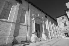 Ascoli Piceno Marches, Italy, historic church at morning Stock Photos