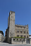 Ascoli Piceno (Marches, Italy) - Historic palace with towers Stock Photos