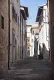Ascoli Piceno marsze, Włochy, historyczni budynki Zdjęcia Royalty Free