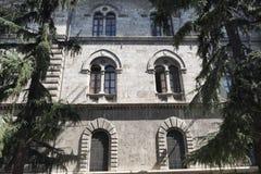 Ascoli Piceno marsze, Włochy, historyczny budynek Fotografia Stock