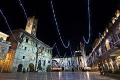 Ascoli Piceno - Praça del Popolo Imagem de Stock Royalty Free