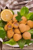 Ascoli stuffed olives. Stock Photos