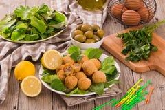 Ascoli stuffed olives. Royalty Free Stock Photography