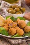 Ascoli stuffed olives. Royalty Free Stock Photo