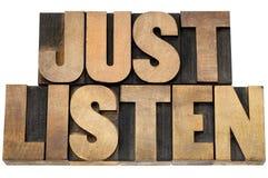 Ascolta appena il consiglio Immagini Stock Libere da Diritti