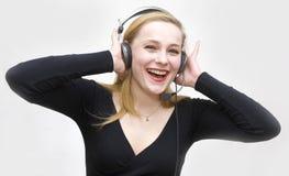 Ascolta i suoni Immagine Stock