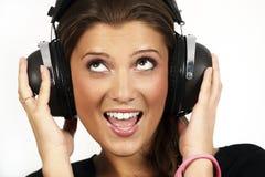 Ascoltando la musica Fotografia Stock
