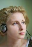 Ascoltando misic Fotografie Stock