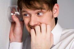 ascoltare di nascosto Fotografia Stock