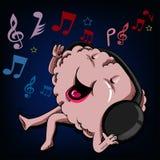 Ascolti e canti il cervello Fotografia Stock