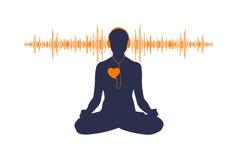 Ascolti il vostro cuore Fotografia Stock