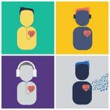 Ascolti il vostro cuore Immagine Stock Libera da Diritti