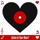 Ascolti il vostro cuore Immagine Stock