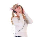 Ascolti la musica Immagini Stock