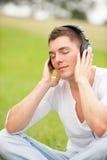 Ascolti la musica Fotografie Stock Libere da Diritti
