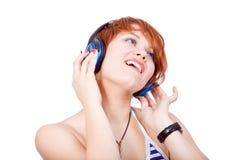 Ascolti musica Immagine Stock
