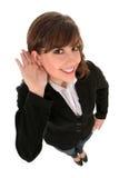 Ascolto della donna di affari Fotografia Stock Libera da Diritti