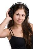 Ascolto di musica Immagini Stock Libere da Diritti
