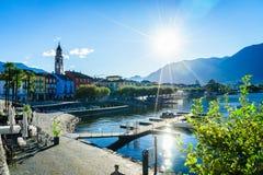Ascona,瑞士 图库摄影