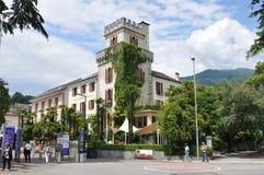 Ascona на Lago Maggiore известно для туристов стоковое фото rf